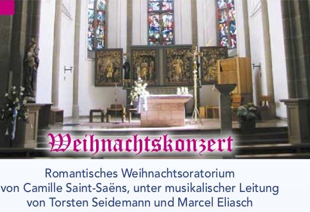 Romantisches Weihnachtsoratorium von Camille Saint-Saëns, unter musikalischer Leitung von Torsten Seidemann und Marcel Eliasch.